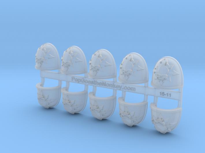Pyre Skull - G4 Shoulder Pads x10 3d printed