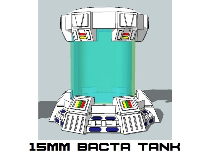 15mm Bacta Tank (3pcs) 3d printed