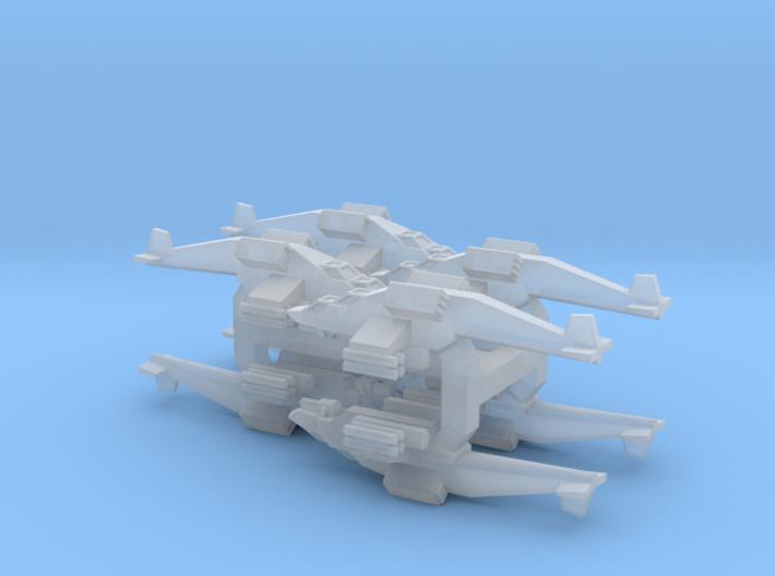 3mm Sci-Fi Attack VTOLs (8pcs) 3d printed