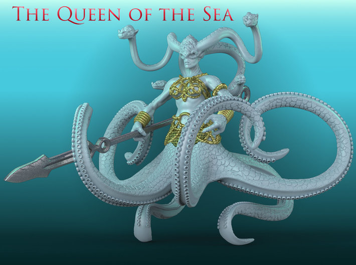 The Queen of the Sea 3d printed Presentation Render