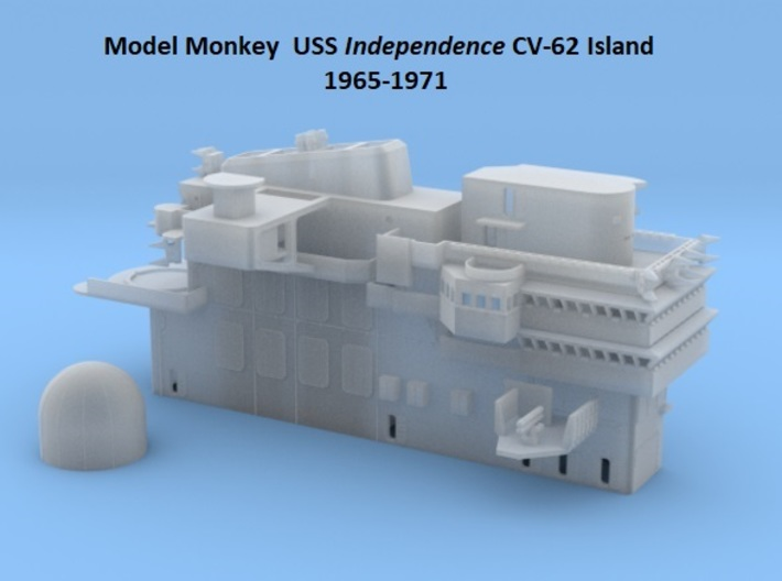 1/144 USS Independence CVA-61 Island 1965-1971 3d printed
