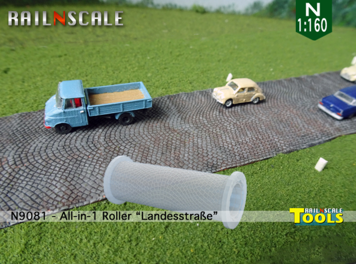 All-in-1 Roller Landesstraße (N 1:160 - TT 1:120) 3d printed