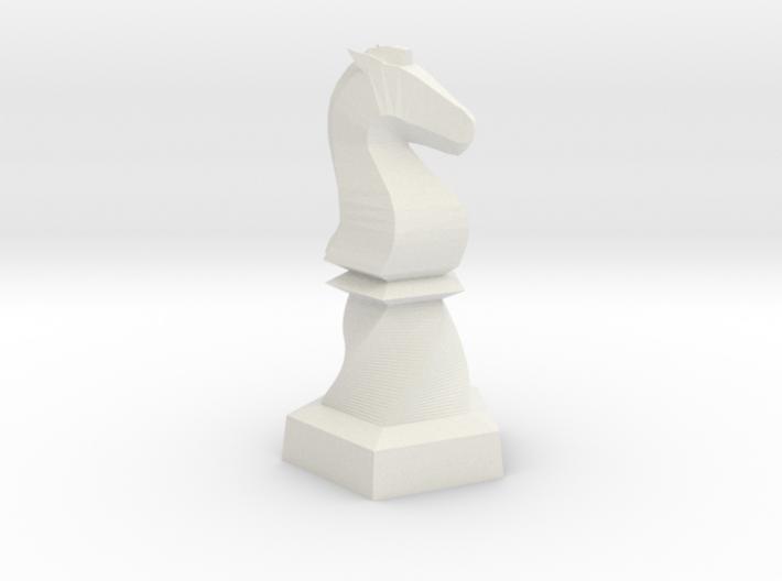 Geometric Chess Set Knight 3d printed