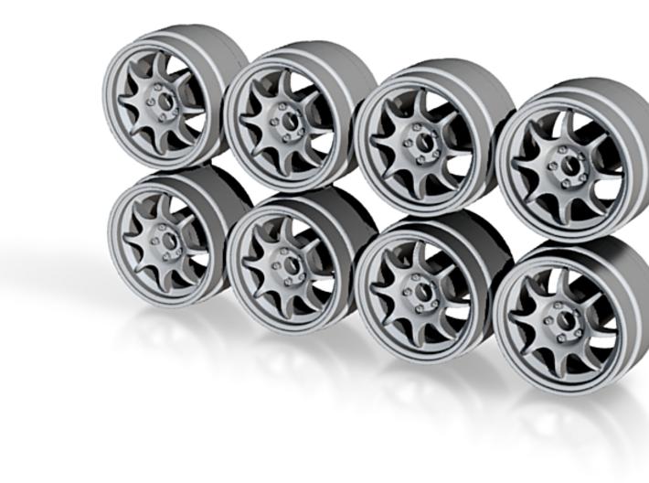 Weds TC05 Hot Wheels Rims 3d printed