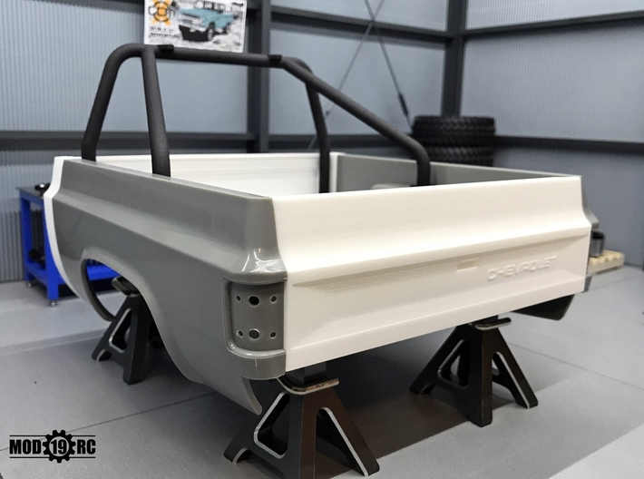 Tailgate - Late - Smooth for RC4WD Blazer 3d printed Late Chevy version shown