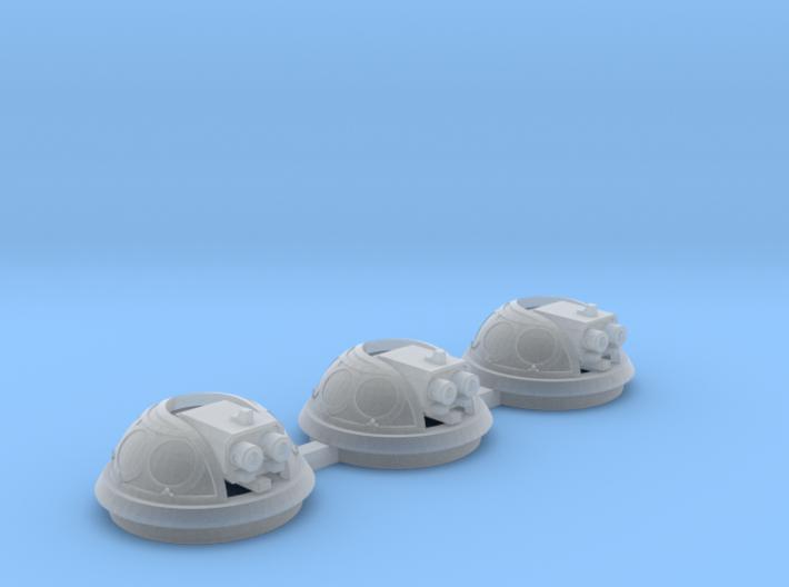 Bubble Canopy Gun Fleur de Lis - 3 Pack 3d printed