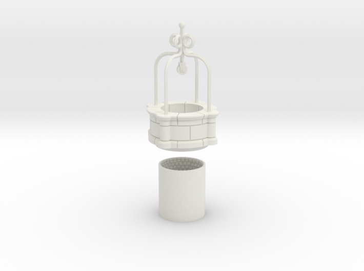 HOF070 - Big well of the castle. 3d printed
