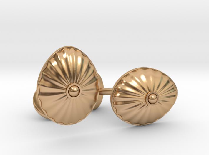 Shell Cufflinks 3d printed