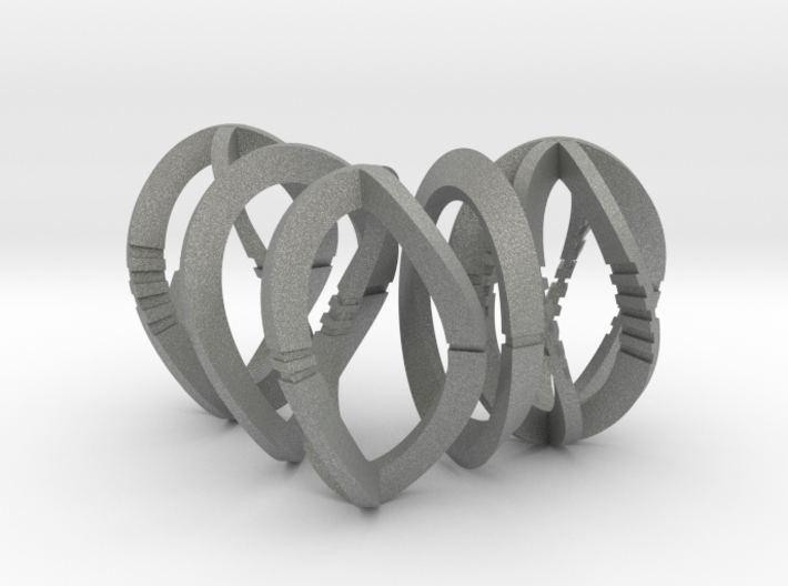 Modern Art Dice Set (D1, D2, D3, D4, D6) 3d printed