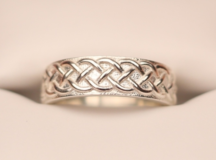 Celtic Knot Wedding Band 3d printed Size 7