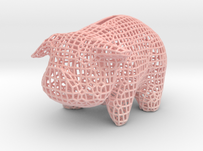 Wire Piggy Bank 3d printed