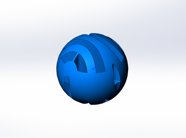 Rokenbok 19mm Blue Ball 3d printed