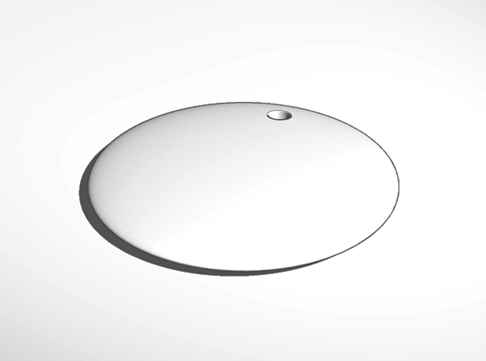 keychain tag round thin engrave 3d printed External Render