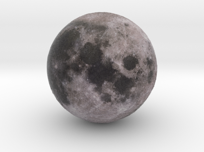 Moon with relief 1:100 million 3d printed