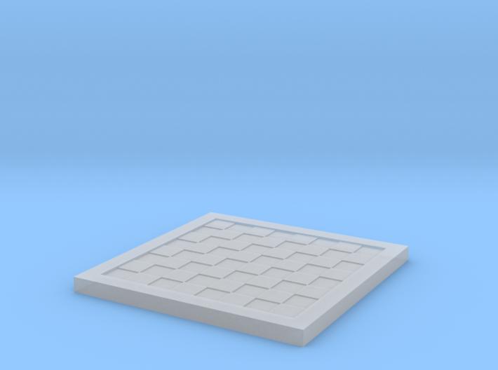 1/18 Scale Chess/Checkers Board (Bare) 3d printed