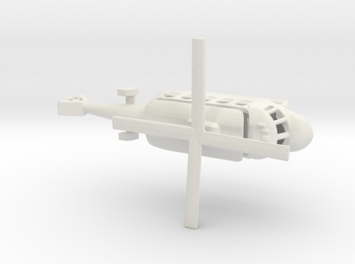 crazy chopper helicopter 3d printed