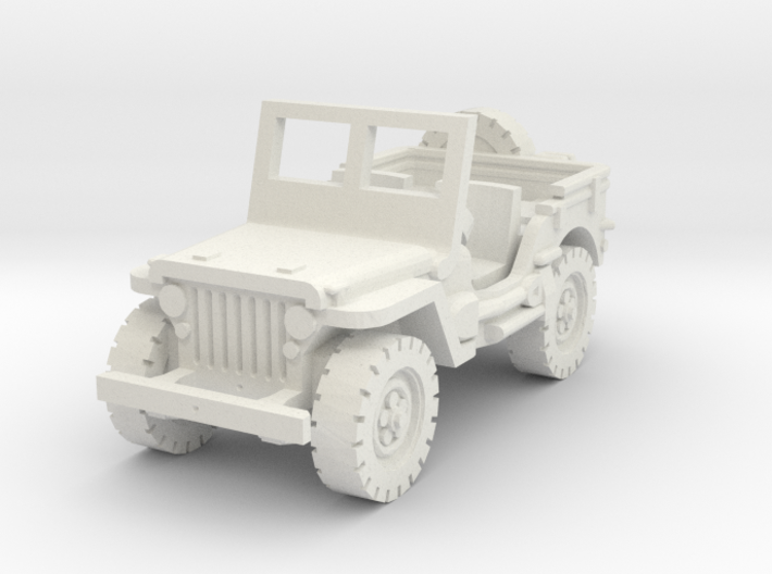 Jeep Willys scale 1/87 3d printed
