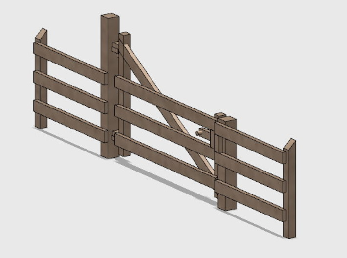 Wood Gate - R-Out Swing 3d printed Part # WG-002
