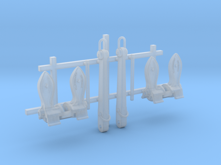 1/128 RN Byers Stockless Anchors 75cwt x2 3d printed 1/128 RN Byers Stockless Anchors 75cwt x2