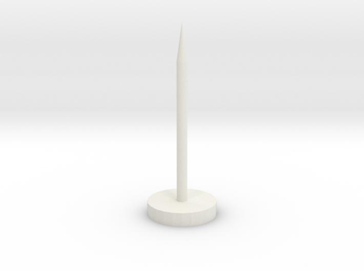 "Super Long Flat Thumbtack (1"" Long) 3d printed"