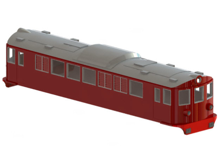Swedish SJ electric locomotive type F - H0-scale 3d printed CAD-model