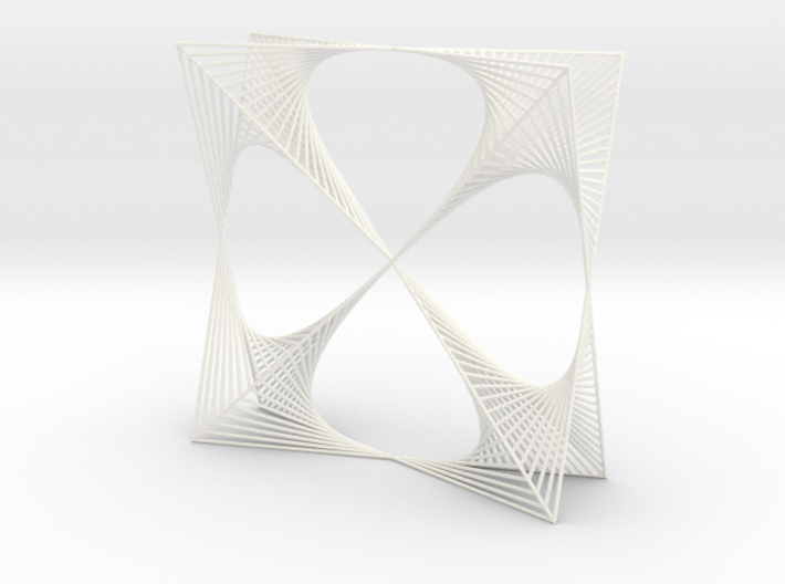 Shape Wired Parabolic Curve Art Clover Square BV2 3d printed