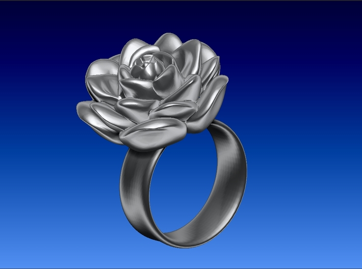 Tiny Rose Ring / Thimble (Fits My Finger tip) 3d printed