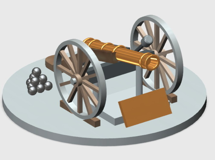 Cannon-2 (HO) 3d printed