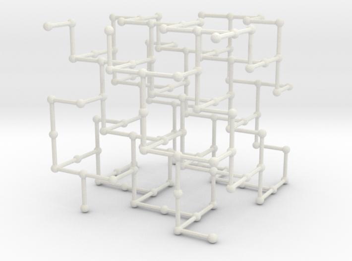 Haugland's grid subgraph no. 3 3d printed