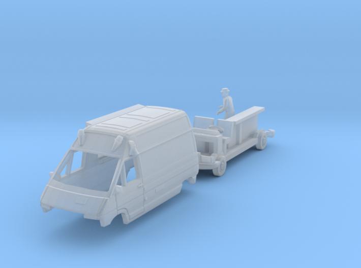 Renault Trafic T1000D Ice cream van with vendor TT 3d printed