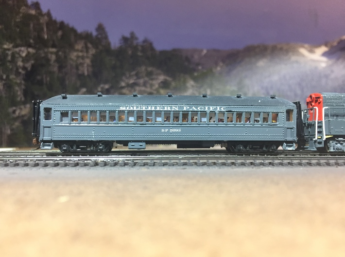 Windows for SP Suburban Bachmann 72' Coach Convers 3d printed Finished model