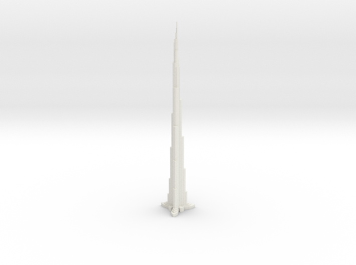 Dubai Burj Khalifa Tower World's Tallest Buiding 3d printed