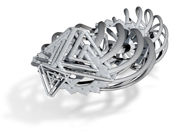Spiral interlocking Pendant 3d printed
