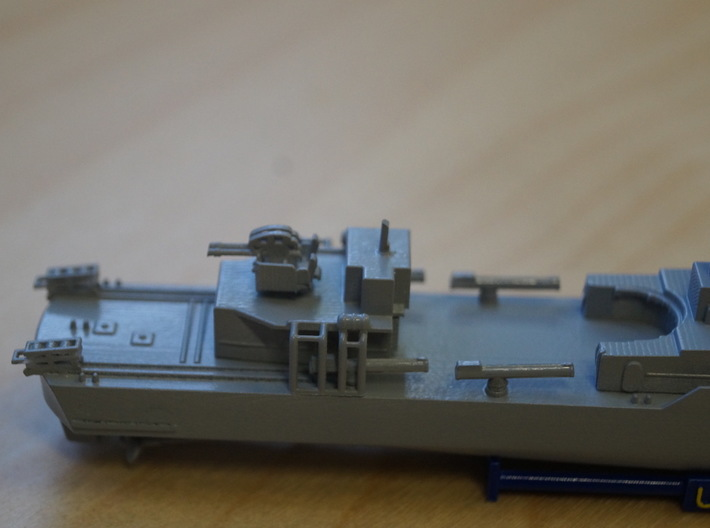 Thetis Class, Details (1:350, static model) 3d printed details at stern: water bomb rails and aft gun placement