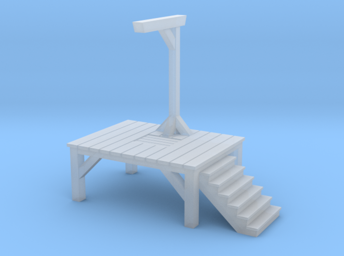 Gallows - Single Posted (1/87 Scale) 3d printed