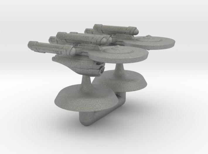 Terran Union Class Dreadnought 1:20000 3d printed