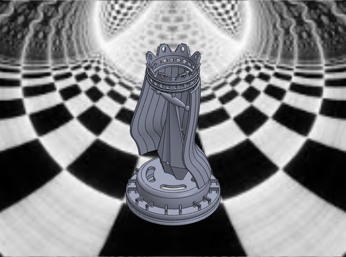 KING PIECE 3d printed King-Isometric View