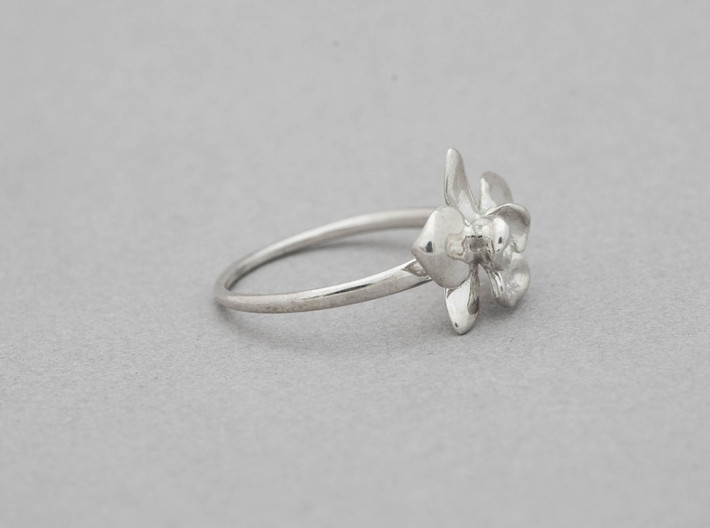 Petite Orchid Ring- US Size 5 3d printed