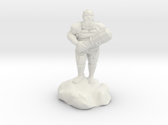 hill dwarf with greatclub 3d printed