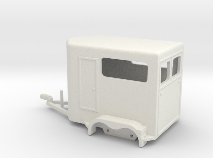 1030 Horse Trailer HO 3d printed