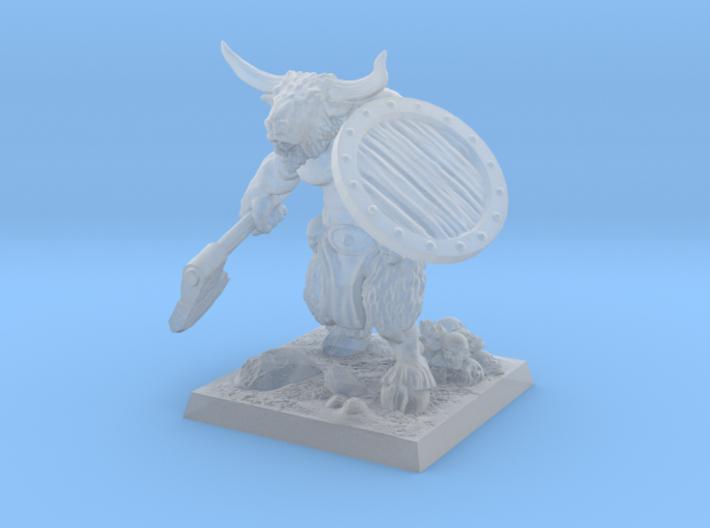 minotaur_miniature 3d printed fine detail render