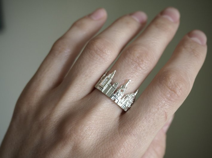 Moscow City Ring - Fancy Gift for Best Friend 3d printed