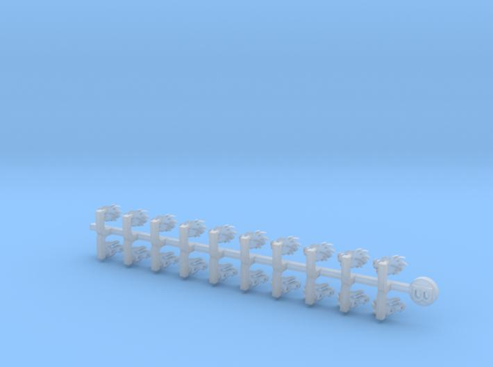 20x Dragon Head (Left): Small Bent Insignias 3d printed