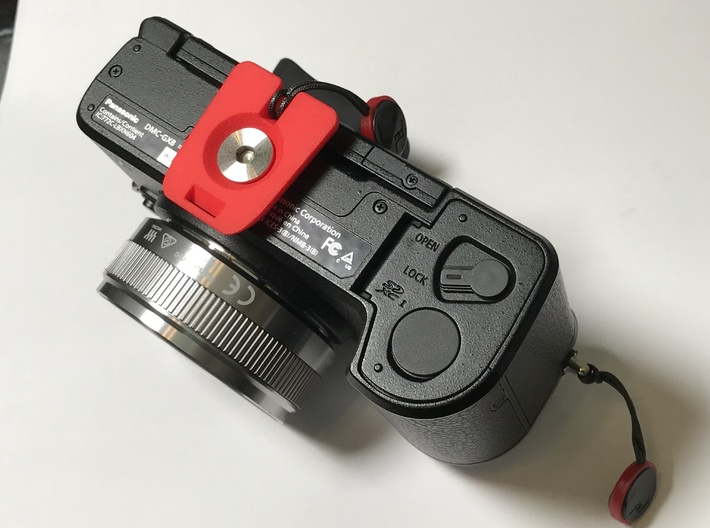 Camera Baseplate, GorillaPod & Arca Clamp 3d printed Secures to your camera.