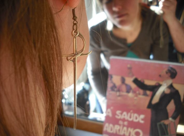 Rapier Earrings (17th c. Sword) 3d printed hooks not included