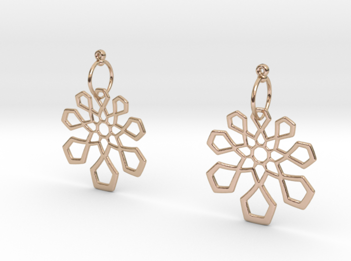 Arabesque Earrings 3d printed