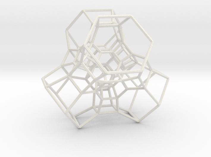 Permutohedron of order 5 (partial) 3d printed