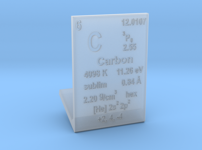 Carbon Element Stand 3d printed