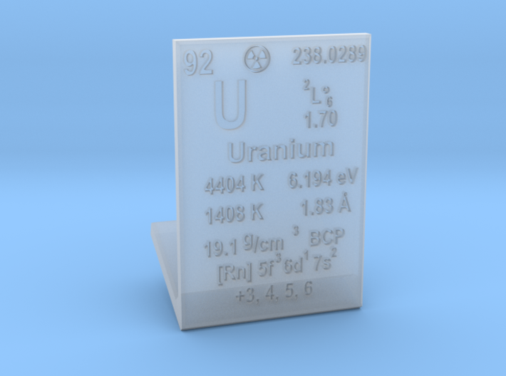 Uranium Element Stand 3d printed