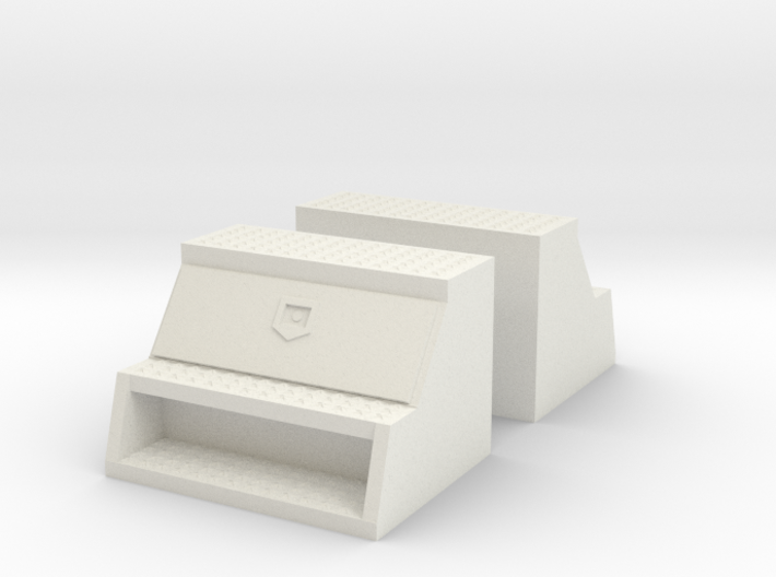 """1/32 to 1/34th 'Saddle' type 24"""" toolboxes 3d printed"""